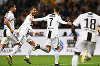 Cristiano Ronaldo of Juventus celebrates with team mates after scoring the goal of 1-1 <br /> Milano 27-04-2019 Stadio Giuseppe Meazza <br /> Football Serie A 2018/2019 FC Internazionale - Juventus FC <br /> photo Image Sport / Insidefoto