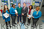 Mercy Mounthawk students Judith Waugh, Adedolavo Idowu standing with Dr David O'Brien (Guest Speaker) and Shane Kissane ( Dep Vice Principal) and students Favor Itsede and Nimotalai Onebamji at the Mercy Mounthawk Careers evening in the school on Thursday.
