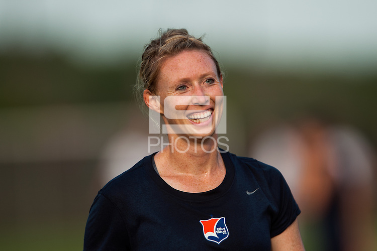 Sky Blue FC defender Melanie Booth (13). Sky Blue FC defeated the Boston Breakers 5-1 during a National Women's Soccer League (NWSL) match at Yurcak Field in Piscataway, NJ, on June 1, 2013.