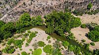 Aerial view of the trees, stream and green areas around the town of Quiriego, Sonora.<br /> Vista Aérea de los arboles, arroyo y  areas verde en los alrededores de pueblo de Quiriego, Sonora. <br /> (Photo: LuisGiutierrez/NortePhoto)