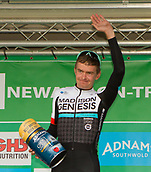 6th September 2017, Mansfield, England; OVO Energy Tour of Britain Cycling; Stage 4, Mansfield to Newark-On-Trent;  the Best young GB rider award is presented to Richard Handley of Madison-Genesis