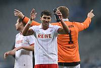 Fussball 2. Bundesliga:  Saison   2012/2013,    14. Spieltag  TSV 1860 Muenchen - 1. FC Koeln  16.11.2012 Jubel nach dem Sieg Adil Chihi (1. FC Koeln)