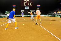 September 13, 2014, Netherlands, Amsterdam, Ziggo Dome, Davis Cup Netherlands-Croatia, 30 second challenge<br /> Photo: Tennisimages/Henk Koster