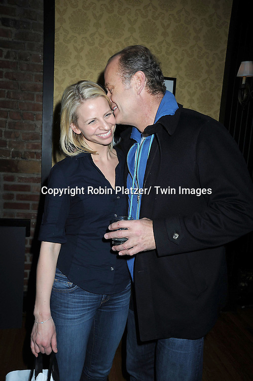 "Kelsey Grammer and fiancee Kayte Walsh at The last performance for Kelsey Grammer and Douglas Hodge in ""La Cage Aux Folles"" on February 13, 2011 at The  Longacre Theatre in New York City. ."