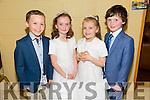 Enjoying theBallybunion Fashion Show in aid of  St Joseph's Secondary school at Tintean Theatre on Thursday were Models Cormac Scanlon, Marina Donoghue, Katlyn Barry and Joseph Gilbert