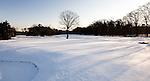 HILVERSUM - Hole 10 en 11 van de baan van de Hilversumse Golfclub besneeuwd. COPYRIGHT KOEN SUYK