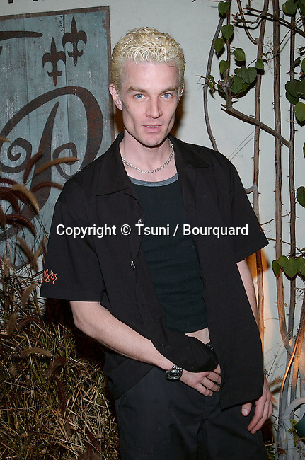 James Marsters - Buffy - arriving at the television critics association closing party with the UPN show at the Twin Palms restaurant in Pasadena, Los Angeles. January 14, 2002.           -            MarstersJames_Buffy07.jpg