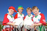 Hugh Crean, Chloe Fitzgerald, Seamus O'Connor and Diarmaid McGearailt having fun at the Castlegregory Cúl Camps last week.
