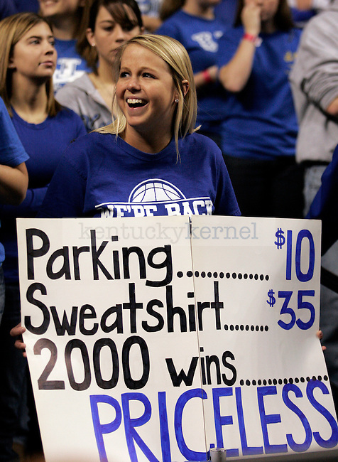 Cat fans came prepared to celebrate  UK's 2000th win against Drexel at Rupp Arena on Monday, Dec 21, 2009. Photo by Britney McIntosh | Staff