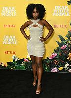 "01 August 2019 - Los Angeles, California - Antoinette Robertson. Netflix's ""Dear White People"" Season 3 Los Angeles Premiere held at TRegal Cinemas LA Live. Photo Credit: Birdie Thompson/AdMedia"