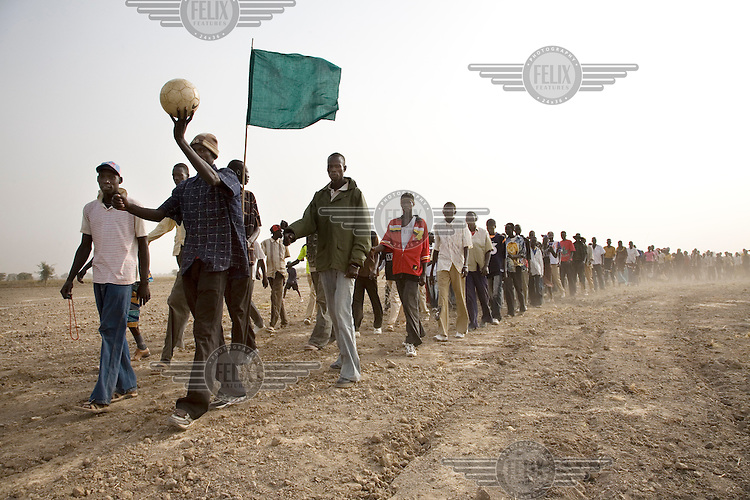 The opening cermony of the Twic Olympics in Wunrok, Southern Sudan.