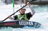 Kensa Randle. Oceania Canoe Slalom Championships, Whero Whitewater Park, Auckland, New Zealand, 1st February 2020. Photo: Simon Watts/www.bwmedia.co.nz