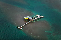 aerial photograph Stiltsville Biscayne Bay Florida