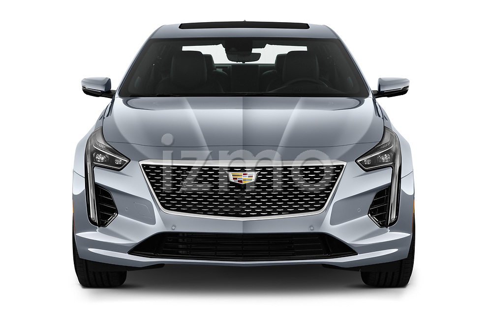 Car photography straight front view of a 2019 Cadillac CT6 Premium-Luxury 4 Door Sedan Front View