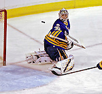 9 December 2006: Buffalo Sabres goalie Ryan Miller (30)  makes a save against the Montreal Canadiens at the Bell Centre in Montreal, Canada. The Sabres defeated the Canadiens 3-2 in a shootout, taking their third contest in the month of December. Mandatory Photo credit: Ed Wolfstein Photo<br />  *** Editorial Sales through Icon Sports Media *** www.iconsportsmedia.com