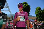 Maglia Ciclamino German Champion Pascal Ackermann (GER) Bora-Hansgrohe at sign on before Stage 20 of the 2019 Giro d'Italia, running 194km from Feltre to Croce d'Aune-Monte Avena, Italy. 1st June 2019<br /> Picture: Gian Mattia D'Alberto/LaPresse | Cyclefile<br /> <br /> All photos usage must carry mandatory copyright credit (© Cyclefile | Gian Mattia D'Alberto/LaPresse)