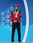 Pyeongchang, Korea, 13/3/2018-2018 Mark Arendz receives his bronze medal in the 12.5km standing biathlon at the Paralympic Games in PyeongChang. Photo Scott Grant/Canadian Paralympic Committee.