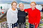 Fiona Murphy, Jessica O'Connor and Ashling O'Shea from the Valentia RC at the Fenit Regatta on Sunday.