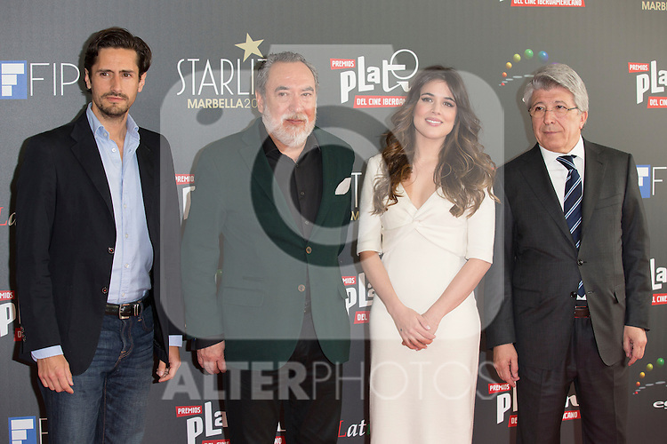 Juan Diego Botto, Adriana Ugarte, Adrian Solar and Enrique Cerezo attend the Platino Awards Of Iberoamerican Cinema at Hotel Ritz, Madrid,  Spain. March 09, 2015.(ALTERPHOTOS/)Carlos Dafonte)