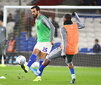 26th November 2019; Cardiff City Stadium, Cardiff, Glamorgan, Wales; English Championship Football, Cardiff City versus Stoke City; Marlon Pack of Cardiff City warms up before the game - Strictly Editorial Use Only. No use with unauthorized audio, video, data, fixture lists, club/league logos or 'live' services. Online in-match use limited to 120 images, no video emulation. No use in betting, games or single club/league/player publications