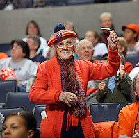 UVa women's basketball elderly fan.