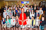 Pupils from Kilflynn NS after their confirmation in St Bernards Church, Abbeydorney by the Bishop of Kerry Ray Browne on Thursday