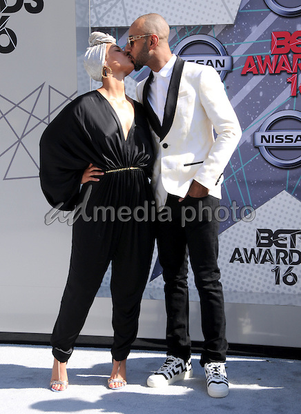 26 June 2016 - Los Angeles. Alicia Keys, Swizz Beatz. Arrivals for the 2016 BET Awards held at the Microsoft Theater. Photo Credit: Birdie Thompson/AdMedia