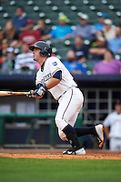 NW Arkansas Naturals catcher Zane Evans (30) at bat during a game against the San Antonio Missions on May 30, 2015 at Arvest Ballpark in Springdale, Arkansas.  San Antonio defeated NW Arkansas 5-1.  (Mike Janes/Four Seam Images)