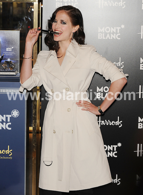 **ALL ROUND PICTURES FROM SOLARPIX.COM**.**WORLDWIDE SYNDICATION RIGHTS**.Hollywood star Eva Green launches Montblanc's new pen, exclusively available at the Harrods Knightsbridge store throughout May. Harrods,London, UK. 4 May 2010...This pic: Eva Green..JOB REF: 11200 SSD     DATE: 04_05_2010.**MUST CREDIT SOLARPIX.COM OR DOUBLE FEE WILL BE CHARGED**.**MUST NOTIFY SOLARPIX OF ONLINE USAGE**.**CALL US ON: +34 952 811 768 or LOW RATE FROM UK 0844 617 7637**