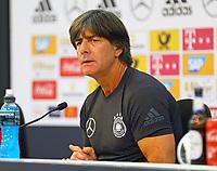 Bundestrainer Joachim Loew (Deutschland Germany) in der Eroeffnungspressekonferenz - 24.05.2018: Pressekonferenz der Deutschen Nationalmannschaft zur WM-Vorbereitung in der Sportzone Rungg in Eppan/Südtirol