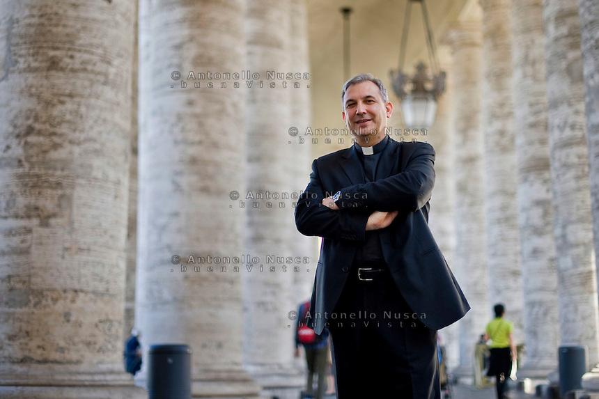 Vatican City, Vatican, April 18, 2013. Mons. Lucio Angel Vallejo Balda, già segretario della Prefettura degli Affari economici e della Commissione di studio sulle attività economiche e amministrative (Cosea).