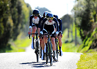 Palmerston North BHS senior A u20 boys in action during the 2017 NZ Schools Road Cycling championships day one team time trials at Koputaroa Road near Levin, New Zealand on Saturday, 30 September 2017. Photo: Dave Lintott / lintottphoto.co.nz