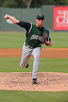 Starting pitcher Kyle Crick (49) of the Augusta GreenJackets, a San Francisco Giants affiliate, in a game against the Greenville Drive on August 22, 2012, at Fluor Field at the West End in Greenville, South Carolina. Augusta won, 6-1. (Tom Priddy/Four Seam Images)