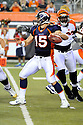 TIM TEBOW, of the Denver Broncos, in action during the Broncos game against the Cincinnati Bengals at Paul Brown Stadium in  Cincinnati, OH on August 15, 2010.  The Bengals won the game 33-24..