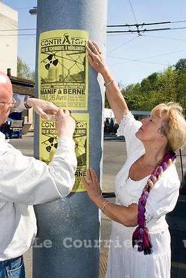Genève, le 22.04.2009.affiche contratom interdite, .© Le Courrier / J.-P. Di Silvestro