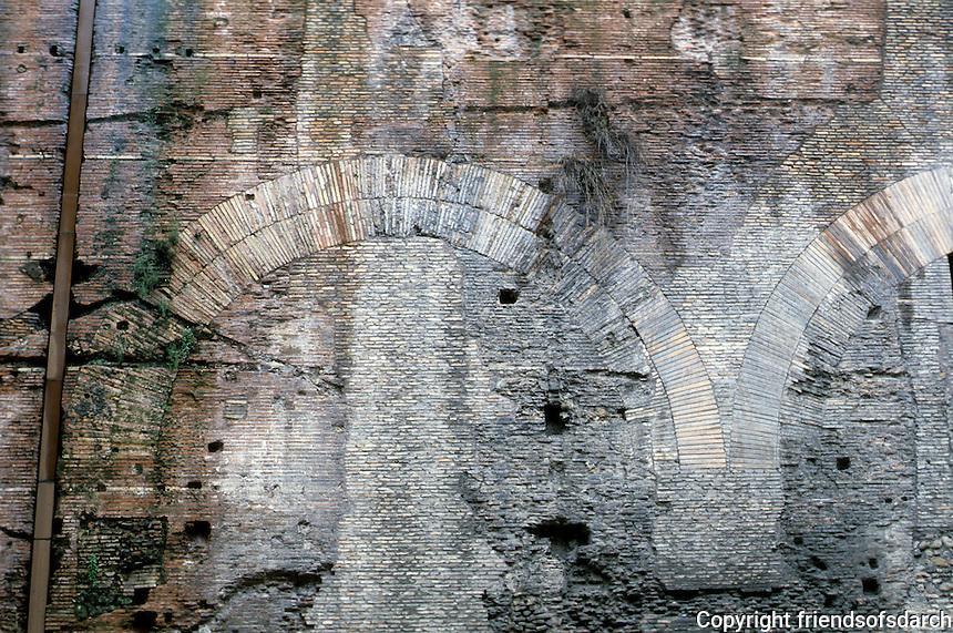 Italy: Rome--The Pantheon, Brickwork.