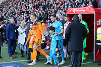 The players enter the pitch before Sheffield United vs Barnet, Emirates FA Cup Football at Bramall Lane on 6th January 2019
