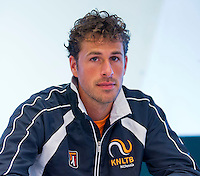 Austria, Kitzbuhel, Juli 14, 2015, Tennis, Davis Cup, Training Dutch team at the the press conference,  Robin Haase<br /> Photo: Tennisimages/Henk Koster