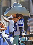Dallas Cowboys mascot, Rowdy, talks with fans at the Dallas Cowboys 2012 Training Camp which was held at the Marriott Resident Inn football fields in Oxnard, CA.
