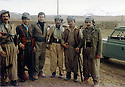 Iran 1981 3rd from left, Hassan Shatavi  with peshmergas of KDPI in Kalweh  <br />