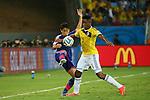 (L to R) <br /> Shinji Kagawa (JPN), <br /> Carlos Sanchez (COL), <br /> JUNE 24, 2014 - Football /Soccer : <br /> 2014 FIFA World Cup Brazil <br /> Group Match -Group C- <br /> between Japan 1-4 Colombia <br /> at Arena Pantanal, Cuiaba, Brazil. <br /> (Photo by YUTAKA/AFLO SPORT)