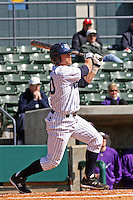 Francis Larson of the University of California at Irvine at the plate in a game against James Madison University at the Baseball at the Beach Tournament held at BB&T Coastal Field in Myrtle Beach, SC on February 28, 2010.