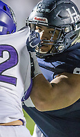 NWA Democrat-Gazette/BEN GOFF @NWABENGOFF<br /> Yonathan Raya, Springdale Har-Ber defensive lineman, in the second quarter vs Fayetteville Friday, Nov. 2, 2018, during the game at Wildcat Stadium in Springdale. <br /> <br /> FOR ADV. DO NOT USE.