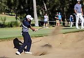 10th February 2018, Lake Karrinyup Country Club, Karrinyup, Australia; ISPS HANDA World Super 6 Perth golf, third round; Brett Rumford (AUS) hits from a bunker