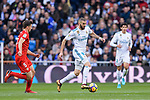 Karim Benzema of Real Madrid (C) in action during La Liga 2017-18 match between Real Madrid and Sevilla FC at Santiago Bernabeu Stadium on 09 December 2017 in Madrid, Spain. Photo by Diego Souto / Power Sport Images