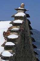 Europe/France/Rhône-Alpes/38/Isère/Env de Villard-de-Lans: Détail d'un toit à pignon