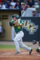 Siena Saints designated hitter Dan Vasquez (19) at bat during a game against the UCF Knights on February 21, 2016 at Jay Bergman Field in Orlando, Florida.  UCF defeated Siena 11-2.  (Mike Janes/Four Seam Images)