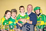 Darran O'Sullivan father Connie celebrates his son arriving home to Glenbeigh with Sam Tuesday night l-r: Ciara O'Connor, Sheila McGillicuddy, Diarmuid, Connie O'Sullivan and Hannah Sheahan