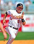 14 March 2009: Baltimore Orioles' catcher Robby Hammock in action during a Spring Training game against the Boston Red Sox at Fort Lauderdale Stadium in Fort Lauderdale, Florida. The Orioles defeated the Red Sox 9-8 in the Grapefruit League matchup. Mandatory Photo Credit: Ed Wolfstein Photo