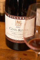 A bottle of Cote Rotie Terres Sombres 2002 Domaine Yves Cuilleron, Chavanay, Ampuis, Rhone, France, Europe
